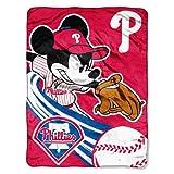 "MLB Philadelphia Phillies Disney's Mickey CoBranded Micro Raschel Throw, 46"" x 60"""