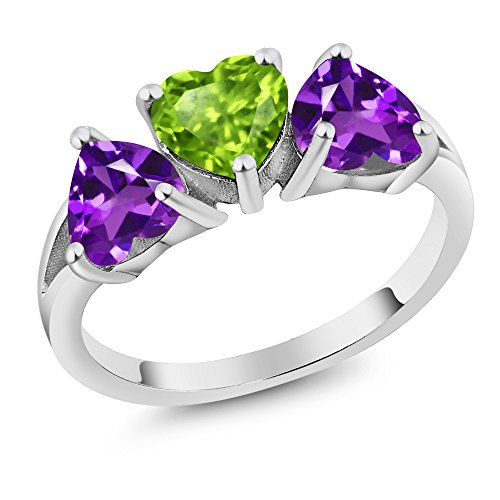 3 Stone Purple Ring - 5