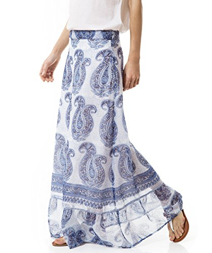 Falda estampada en chifón Estampado