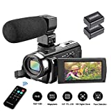 Video Camera Camcorder AiTechny 1080P 30FPS 24MP 16X Digital Zoom 3.0 Inch LCD