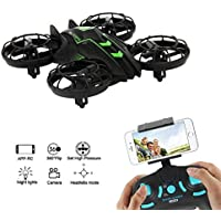 Geamazon JXD 515W WIFI FPV Camera Mini RC Quadcopter Drone 2.4G 4CH UFO Helicopter with Altitude Hold, Headless Mode, 3D Rolling, LED Light (Green)