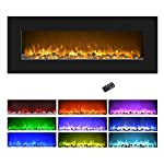 Northwest Electric Fireplace Wall Mounted LED Fire and Ice Flame from Northwest