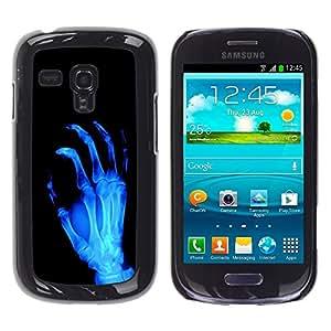 TopCaseStore / la caja del caucho duro de la cubierta de protección de la piel - X-Ray Skeleton Arm - Samsung Galaxy S3 MINI NOT REGULAR! I8190 I8190N