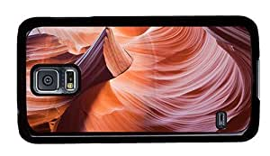 Hipster fancy Samsung Galaxy S5 Cases antelope canyons PC Black for Samsung S5