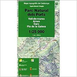 Mapa topogràfic de Catalunya 1:25 000. Espais Naturals Protegits ...