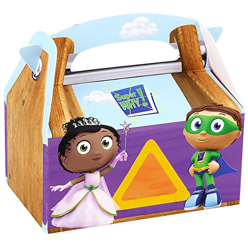 Super Why Costume 4-6 (Super Why Party Supplies - Empty Favor Boxes (4))