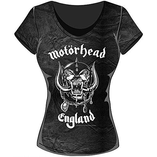 Rockoff Trade England Acid Wash, Camiseta para Mujer gris