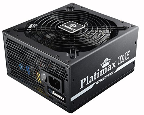 Enermax Platimax D.F. 80+ Platinum Certified Full Modular 500W Power Supply with Amazing DFR Technolohy, Individually Sleeved Cable and 13.9cm Twister Bearing Fan, EPF500AWT ()
