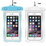 iphone 4 housing case - 2Pack Universal Waterproof Case, CaseHQ Clear Transparent Cellphone Waterproof, Dustproof Dry Bag With Neck Strap for iPhone 8,8plus,7,7 Plus,6S,6S Plus,google pixel,and All Devices Up to 5.8 Inches