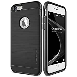 Funda iPhone 6 6S VRS Design® Carcasa Protector [Negro] Funda Silicona TPU Choque Absorción [New High Pro Shield] Para Apple iPhone 6 6S