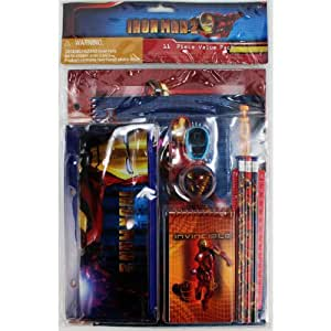 Iron Man 2 11 Piece Stationary Set School Supplies Value Pack
