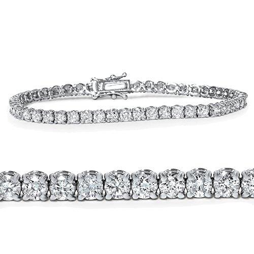 "4ct Diamond Tennis Bracelet 14K White Gold 7"""