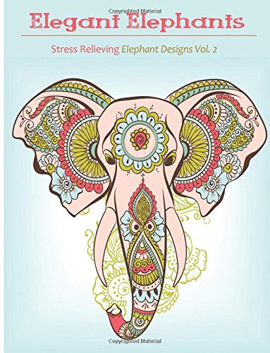 Amazon Com Elegant Elephant Coloring Book Coloring Books For