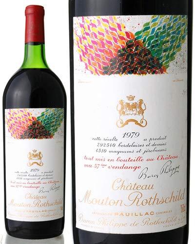 【マグナムボトル】シャトームートンロートシルト[1979](赤ワイン)※ラベル瓶&キャップに汚れ破れ傷有り※(ワイン(=750ml)8本と同梱可) B07GCH73NM