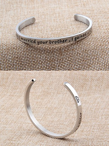 feelmem sister of the groom gift sister in law bracelet when i married your brother