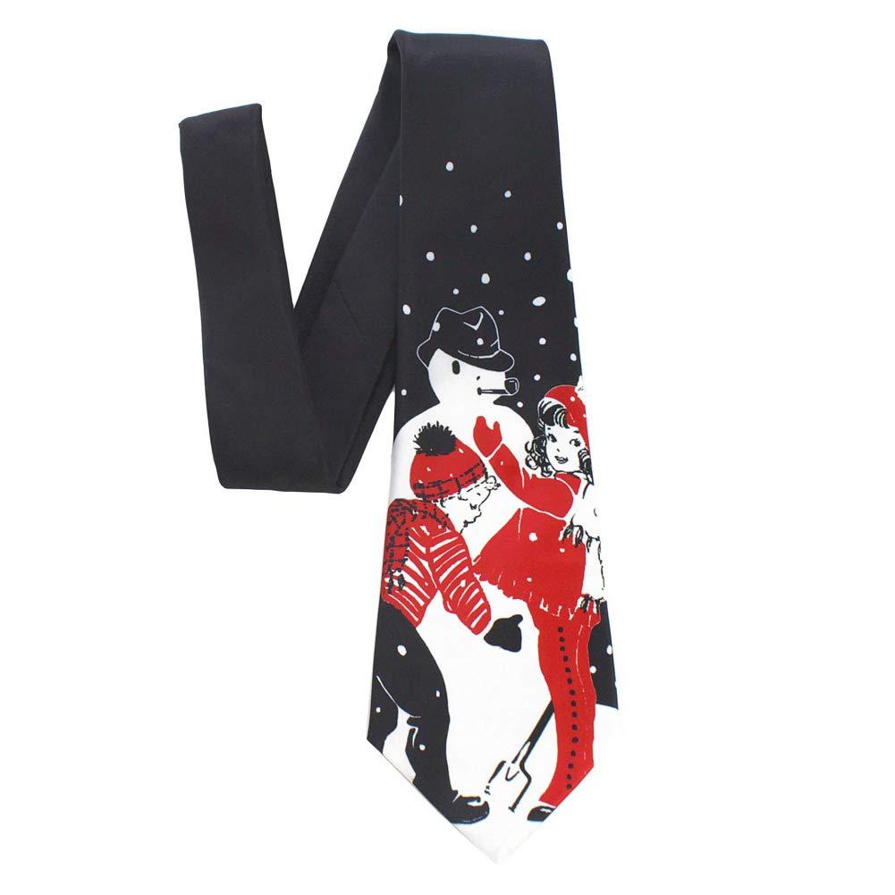 Fushkong - Corbata para Hombre con Estampado de Dibujos navideños ...