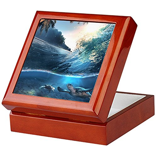 CafePress - Sea Turtles - Keepsake Box, Finished Hardwood Jewelry