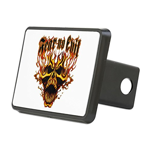 Rectangular Hitch Cover Fear No Evil Flaming Skull