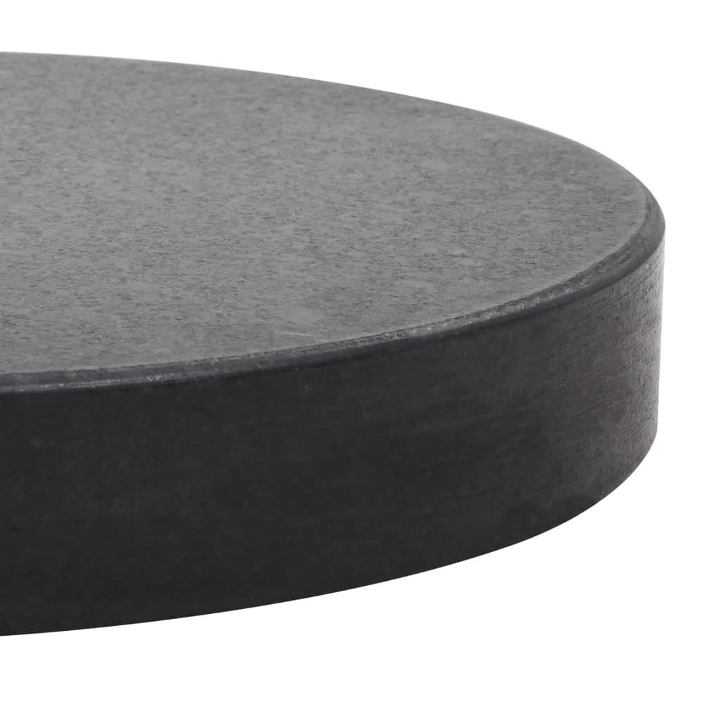 vidaXL Parasol Base Granite 20kg Round Black Outdoor Umbrella Holder Stand