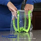 Freezer Bag Holder Stand with Wide Mouth Canning Funnel Bag Well Baggie Baggy Rack Holder Bundle