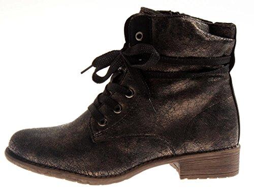 Ladies Lightly Bootie Lined shadow Sun Ladies' Bronze 9493 Short Boots UqSpR4wt