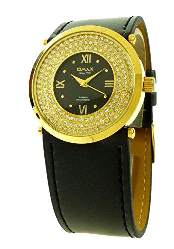 Damen Uhr Marken Uhren Schwarz Gold Edler Damen Schmuck Armbanduhr