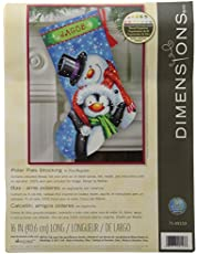 Dimensions Counted Cross Stitch 'Snow Bears' Personalized Christmas Stocking Kit