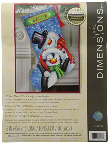 (Dimensions Crafts Needlecrafts Needlepoint Stocking Kit, Polar Pals)