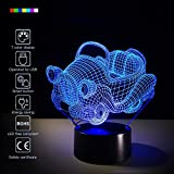 kitchen color ideas Car 3D Night Light Toy Car Beside Lamp Help Kids Fell Safe at Night 7 Colors Change Decor Perfect Birthday Gift for Kids Great Toy Gift Idea for Kids (Toy Car)