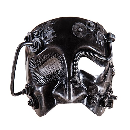 Plastic Cyborg Costume Mask, (Cyborg Costume Accessories)