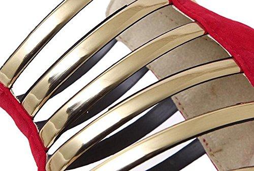 Talon red aiguille éTé Printemps Rouge Bureau Similicuir Robe amp; Femmes L Occasionnel Noir CarrièRe YC automne autres wa7pnPq