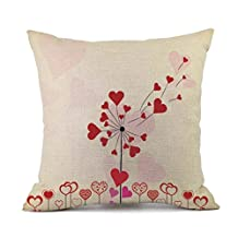 Valentines Pillow Cases, Paymenow Linen Letter Printed Sofa Cushion Car Cover Home Decor Pillow Covers Festival Gift For Girlfriend (A)