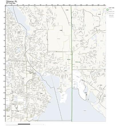 Oldsmar Florida Map.Amazon Com Zip Code Wall Map Of Oldsmar Fl Zip Code Map Laminated