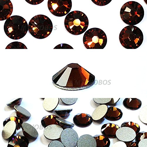 SMOKED TOPAZ (220) brown Swarovski NEW 2088 XIRIUS Rose 12ss 3mm flatback No-Hotfix rhinestones ss12 nail art 144 pcs (1 gross) *FREE Shipping from Mychobos (Crystal-Wholesale)* Smoked Topaz Swarovski Crystal Beads