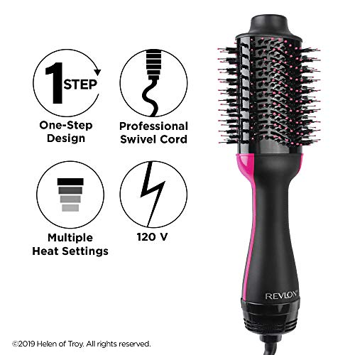 51rv8jUZ eL - Revlon One-Step Hair Dryer & Volumizer Hot Air Brush, Black