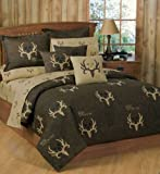 Bone Collector 7 Pc Full Size Comforter Set and One Matching Window Valance/Drape Set (Comforter, 1 Flat Sheet, 1 Fitted Sheet, 2 Pillow Cases, 2 Shams, 1 Window Valance/Drape Set) SAVE BIG ON BUNDLING!