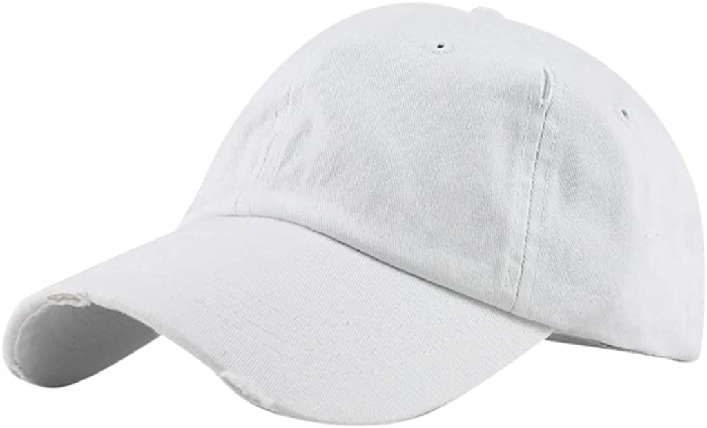 Sports Adjustable YunZyun Ponytail Messy Buns Trucker Plain Baseball Visor Cap Unisex Hat Men Women