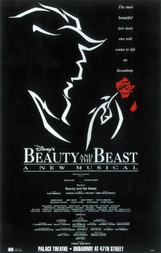 Beauty And The Beast Poster Broadway Theater Play 14x22 Terrence Mann Susan Egan Burke Moses