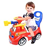 LtrottedJ Ride On Toy Kids Car Push Along Children Bike Toddler Walker Baby Balance Toys (Red)