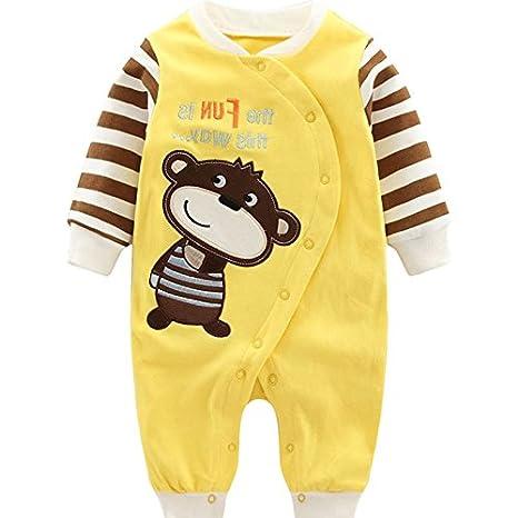 Vine Recién nacido trajes historieta de los muchachos equipo del bebé infantil del mameluco Sleepsuit, 0-3 Meses: Amazon.es: Bebé