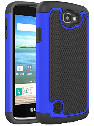 LG K4 Case, LG Spree Case, LG Optimus Zone 3 Case, NOKEA [Shock Absorption] Full Body Hybrid Dual Layer Armor Defender Protective Case Cover for LG K4 LTE / LG Spree / LG Opitmus Zone 3 (Blue) (Lg Optimus Otterbox compare prices)