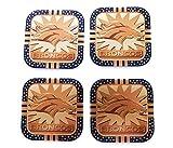 4 Denver Broncos NFL Licensed Fremont Die Gold Metal Drink Coasters
