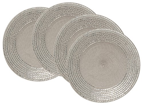 Now Designs Sequin Placemats Cobblestone