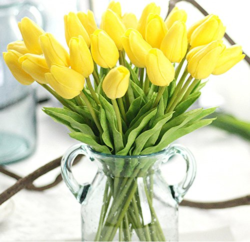 Artificial-Flowers-Real-Touch-PU-Mini-Tulips-Artificial-Plants-for-Wedding-Bouquet-Living-Room-Home-Hotel-Party-Christmas-Decoration-and-Holiday-Vase-Not-Included