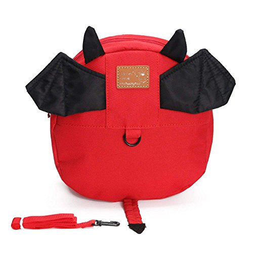 ALLYGOODS Kids Toddler Backpack Daycare Preschool Lunch Bag Cartoon Belt Harness with Leash Child Assistant Strap Little Boys Girls Anti Lost Travel Bag Reins Cute Mini Backpacks 1-4 Years Old -