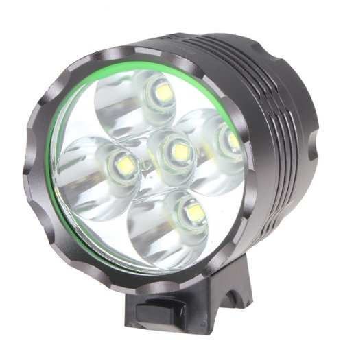 Candance(TM)6000LM 5 x CREE XM-L T6 LED Waterproof 3 Modes Bicycle Light Headlamp, CREE LED Bicycle/Bike Lamp Headlight, Portable Rechargeable Bicycle LED Flashlight with 8000mAh Battery Pack Charger for Outdoor Riding, Camping and Other Activites