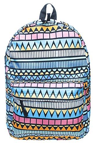 Kukubird New Summer Range Various Emoji Picture Patterns Rucksack Backpack Aztec Niebieski