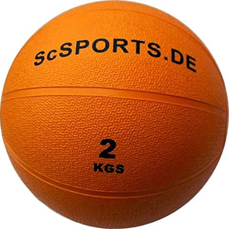 ScSORTS - Balón Medicinal (2 kg), Color Naranja: Amazon.es ...