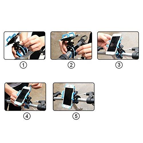 Hrph Cinturón para bicicleta carro de bebé de la manija del teléfono caja del sostenedor del soporte horquilla del montaje para el iPhone