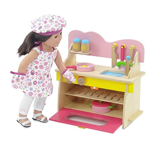 18 Inch Doll Furniture Kitchen Set With Oven Stove Sink And Accessories Fits American Girl